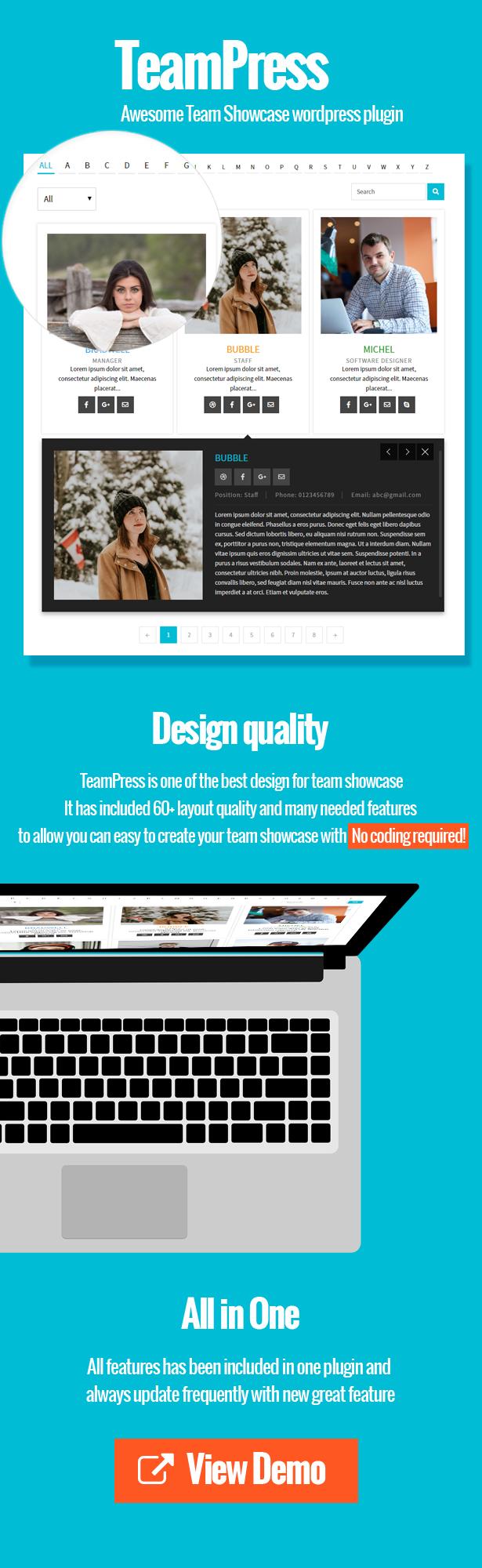 TeamPress - Team Showcase plugin - 2