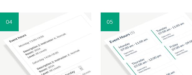 Timetable Responsive Schedule For WordPress - 7