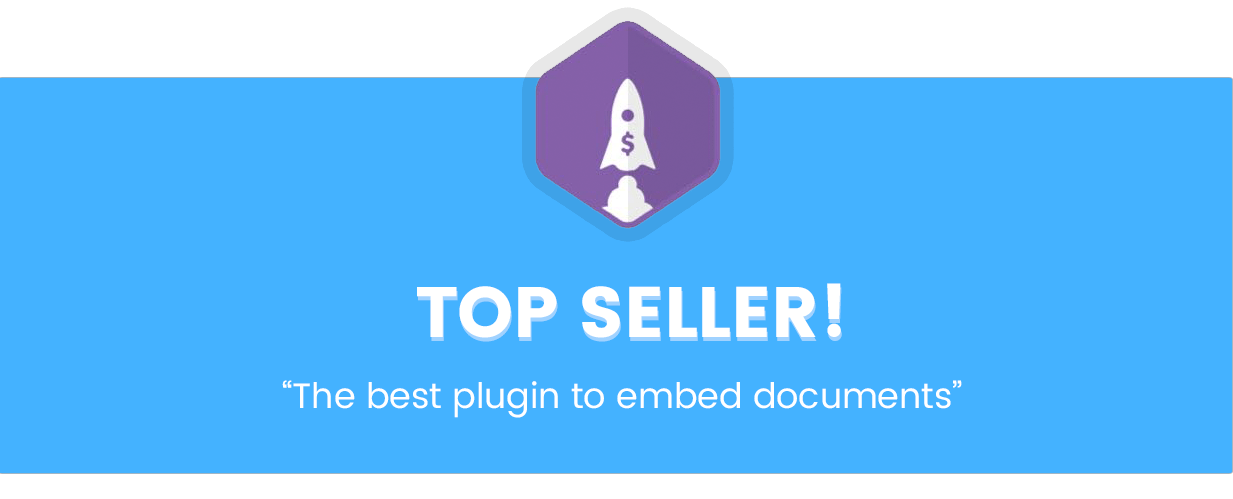 Top Seller! The best WordPress plugin to Embed PDF, Embed Word, Embed PPT, Embed Excel