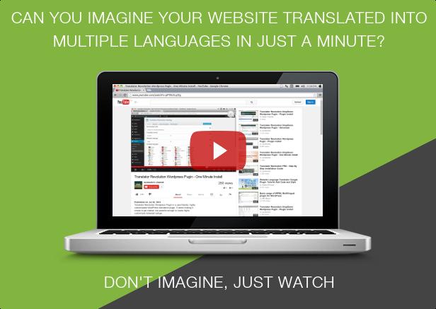 Ajax Translator Revolution WordPress Plugin - 1