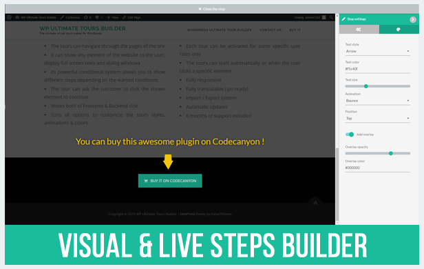 Visually create your steps