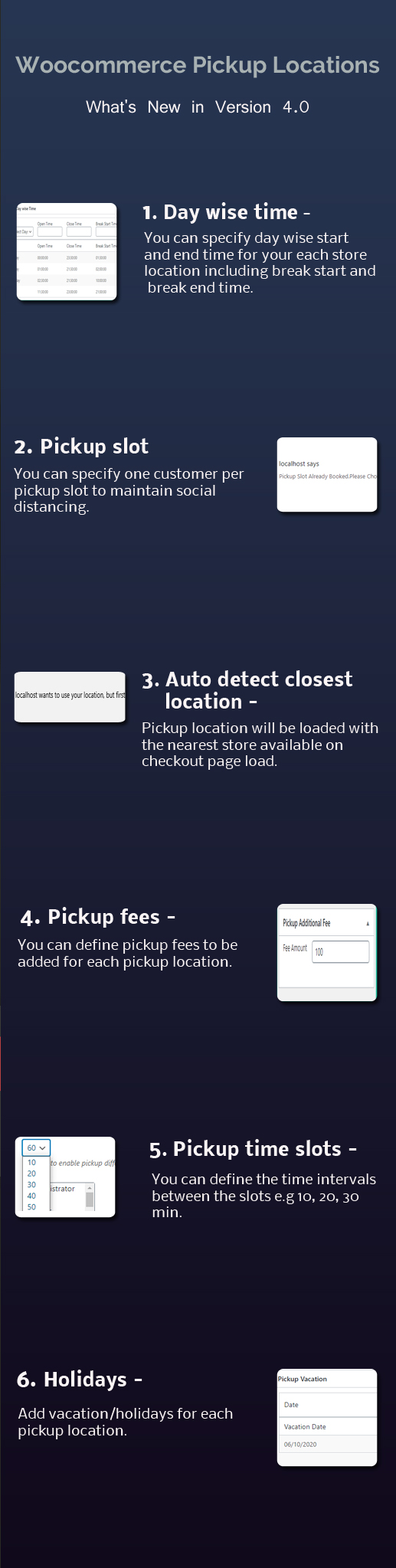 Woocommerce Pickup locations version 4