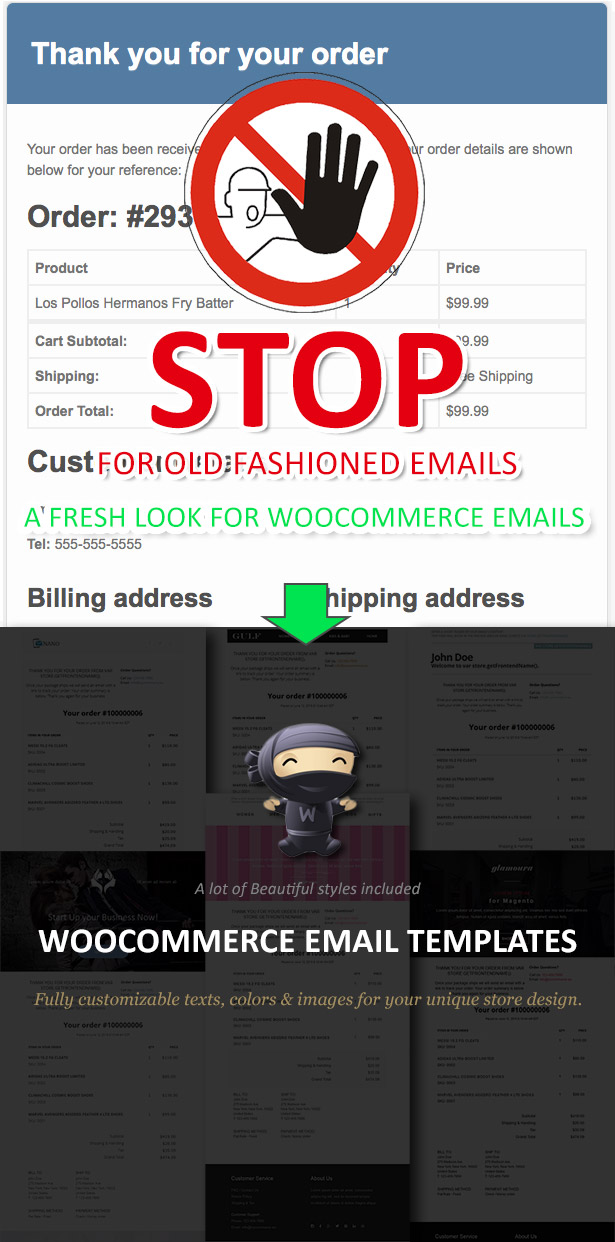 WooCommerce Email Templates - Preview