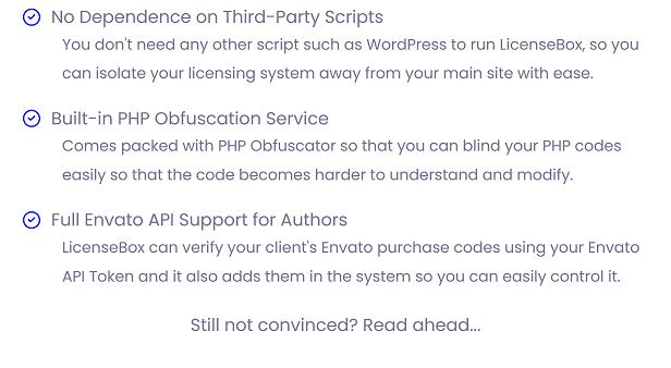 Why LicenseBox?
