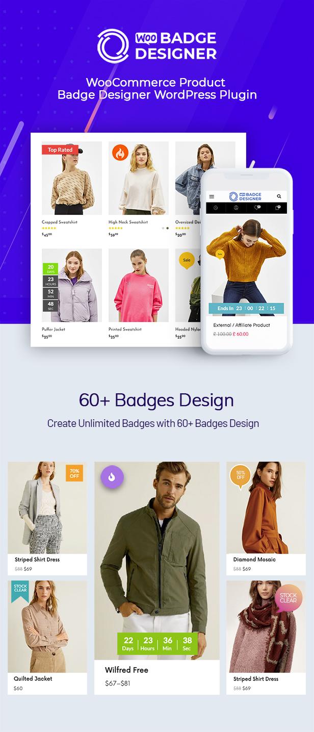 WOO Badge Designer-Sale Page product label