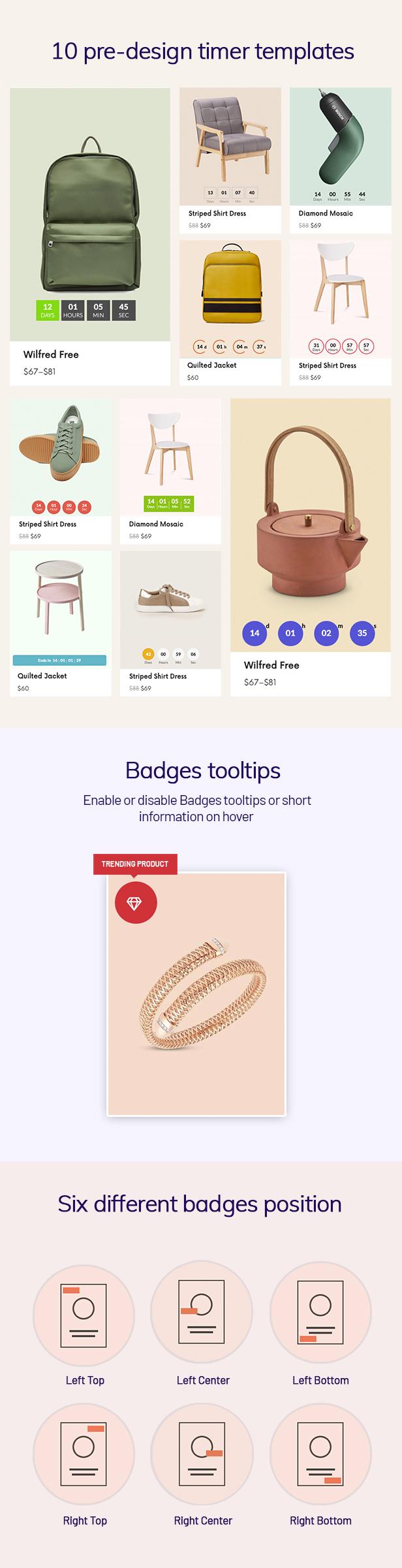 WOO Badge Designer- timer countdown layout