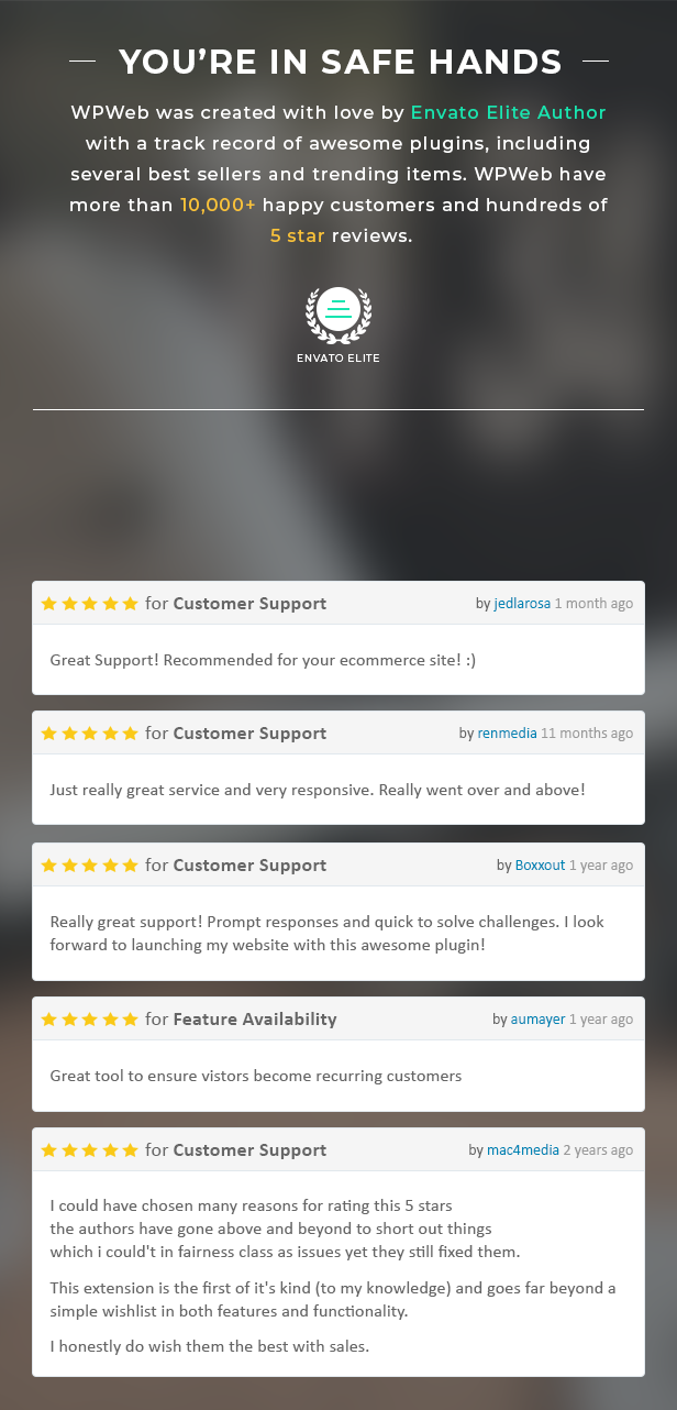 WooCommerce Collection Reviews