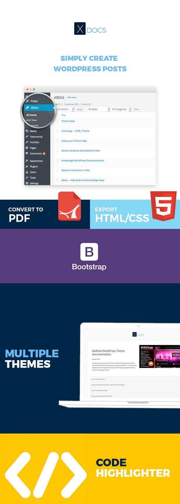 X Docs WordPress Product Documentation Creator - 1